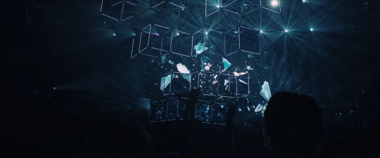 Geometric Shape On A Digital Stage
