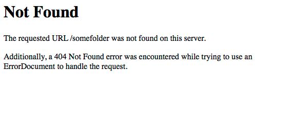 Mensagem de erro de servidor não encontrado (404 Not Found)