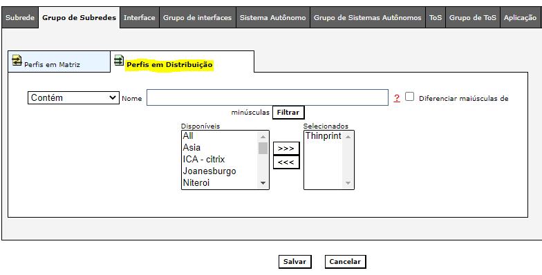 Parte 2 do formulário do perfil em distribuição