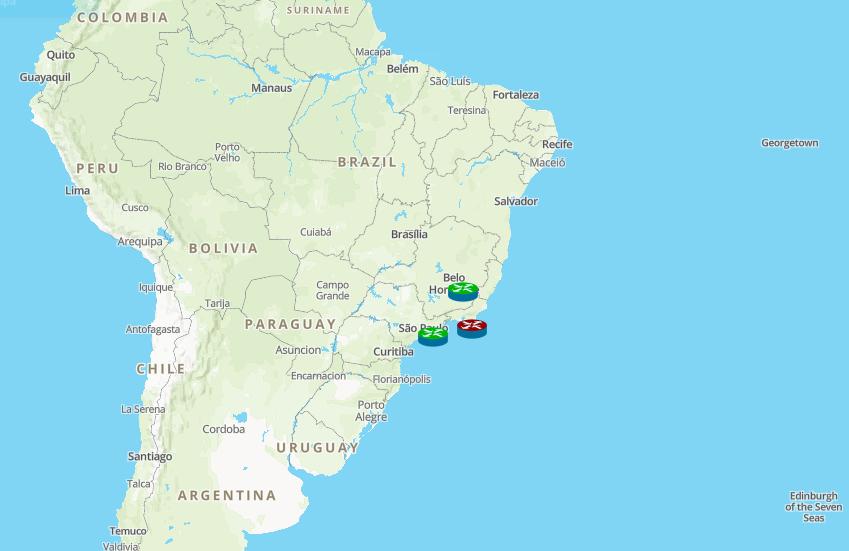 Mapa en el modo de visualización GIS